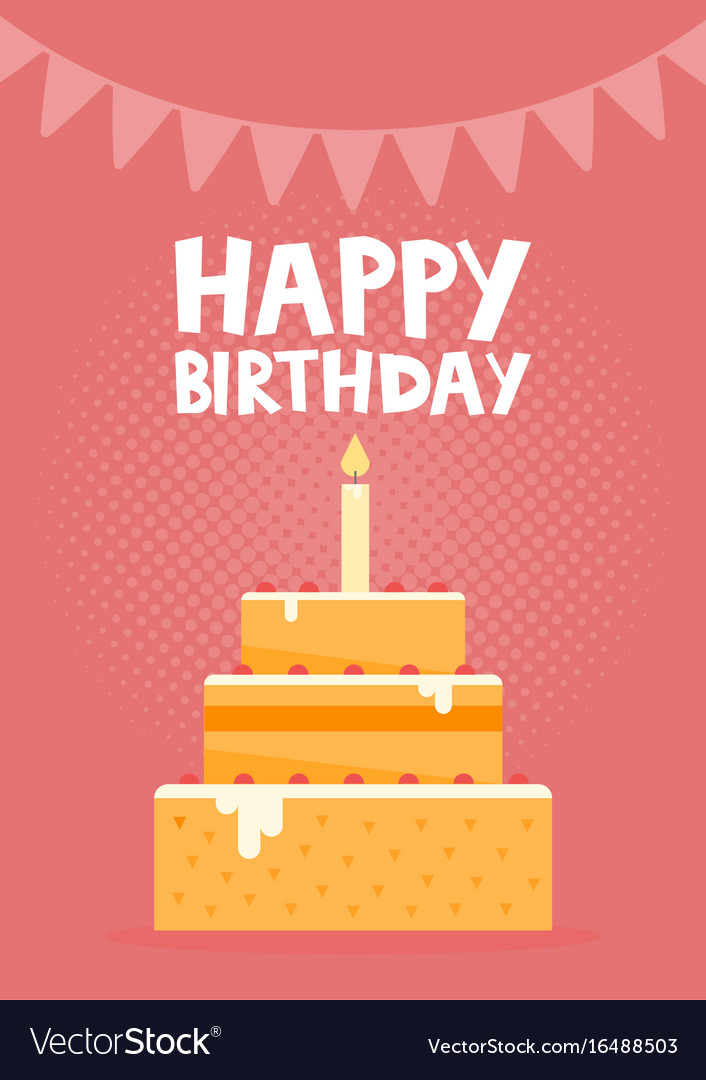 happy birthday card design images ; happy-birthday-card-design-with-cake-vector-16488503