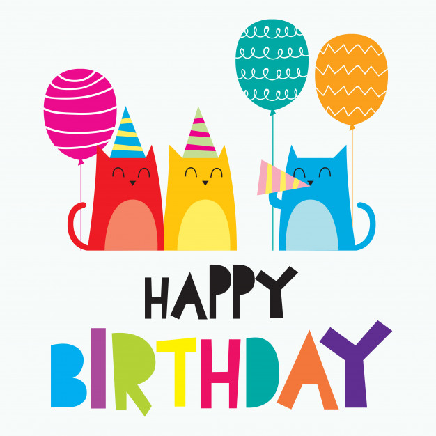 happy birthday card design with photo ; happy-birthday-card-for-children-colorful-cute-and-funny-card-design-for-newborn-baby_8127-219