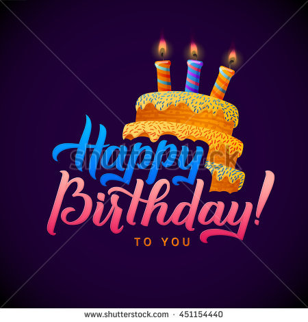 happy birthday card design with photo ; stock-vector-happy-birthday-calligraphy-greeting-card-birthday-card-design-with-candle-lights-on-cake-451154440