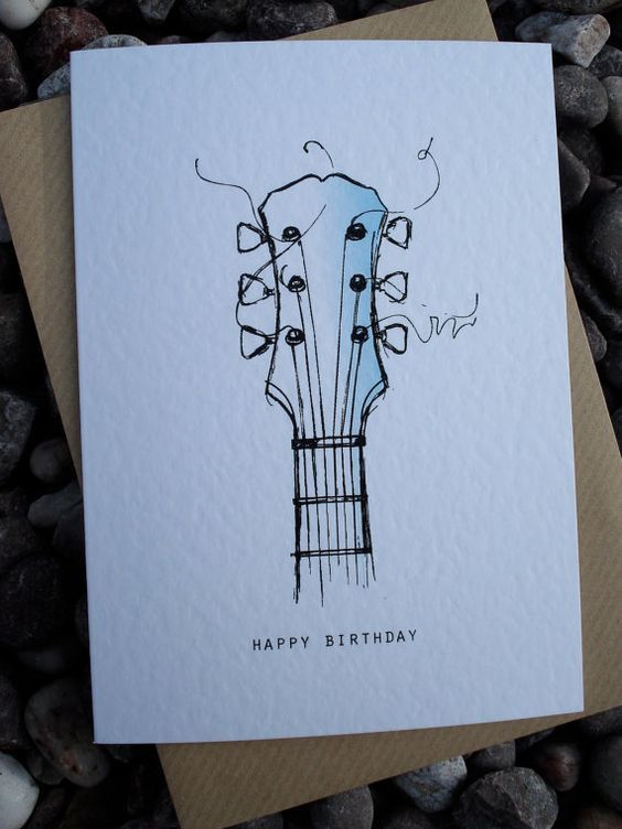 happy birthday card drawing ideas ; d369bb23ca32890b7815028eb4be5eb4--birthday-cards-guitar-happy-birthday