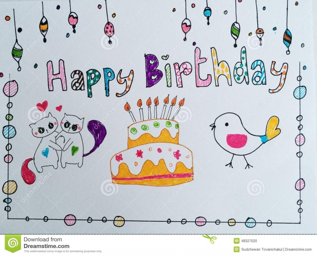 happy birthday card drawing ideas ; happy-birthday-card-stock-photo-image-48327020