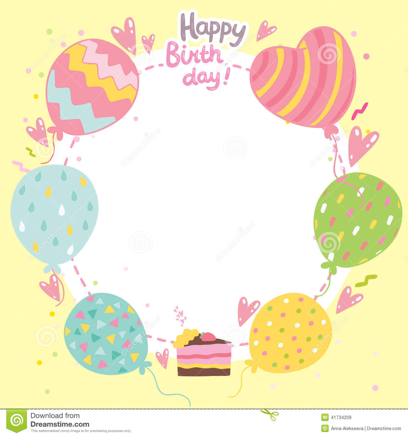happy birthday card printable template ; happy-birthday-card-background-balloons-cake-vector-holiday-party-template-41734209