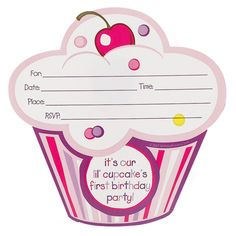 happy birthday cupcake terry border ; fd952f4789a3b99025417ce57841b65c--cupcake-invitations-st-birthday-invitations