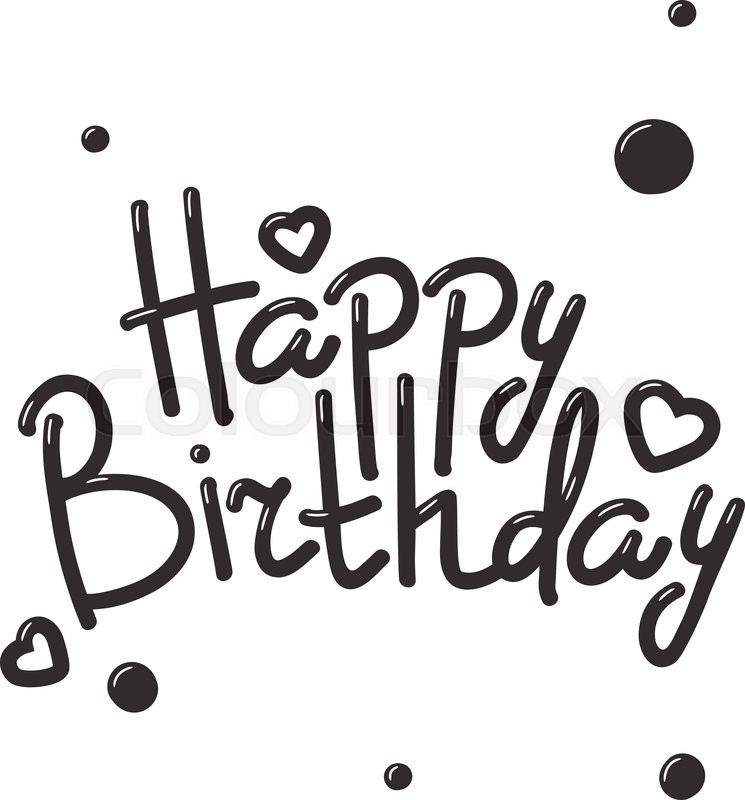 happy birthday design drawing ; 800px_COLOURBOX18658728