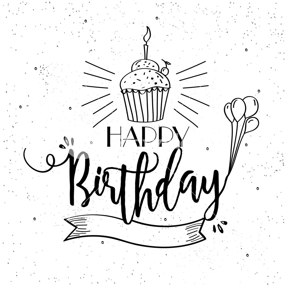 happy birthday design drawing ; graphicstock-hand-drawn-happy-birthday-greeting-or-invitation-card-design-with-blank-ribbon-balloons-and-cupcake_r2-nYWpFjg_SB_PM