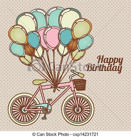 happy birthday design drawing ; happy-birthday-design-illustration_csp14231721