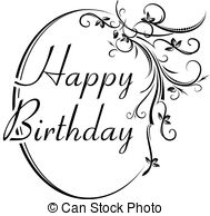 happy birthday design drawing ; happy-birthday-design-image_csp53804573