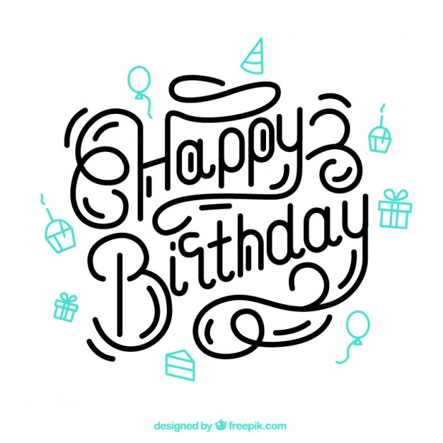 happy birthday design drawing ; happy-birthday-lettering_23-2147521759