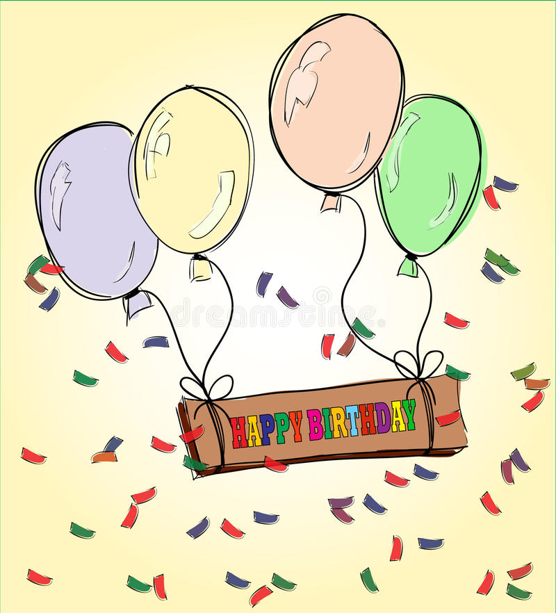 happy birthday drawing ; happy-birthday-drawing-balloons-celebration-52367917