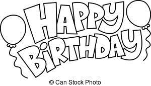 happy birthday drawing ; happy-birthday-text-graphic-clip-art-vector_csp39806560