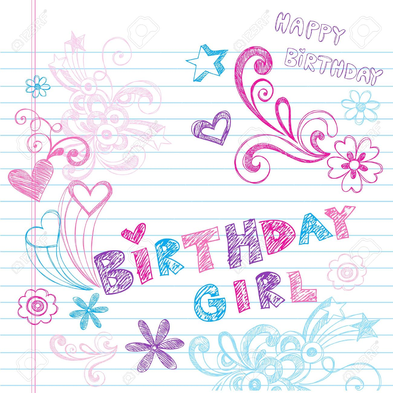 happy birthday drawing designs ; 12411865-happy-birthday-party-sketchy-back-to-school-hand-drawn-notebook-doodles-vector-illustration-design-e