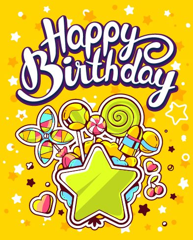 happy birthday drawing designs ; Hand-drawn-happy-birthday-illustration-design-vector-09