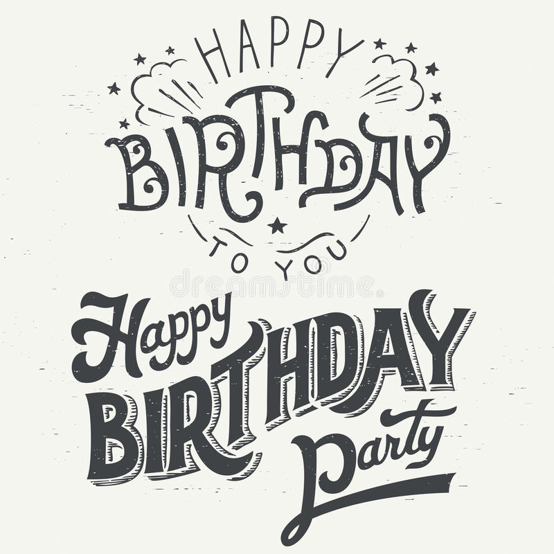 happy birthday drawing designs ; happy-birthday-hand-drawn-typographic-design-set-greeting-cards-vintage-style-59737453