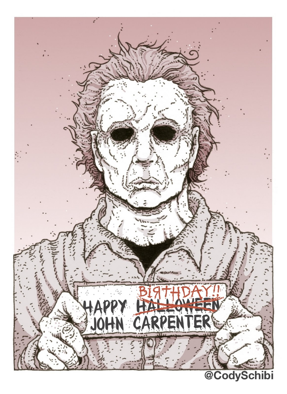 happy birthday drawing ideas ; cody+schibi+michael+myers+john+carpenter+halloween+birthday