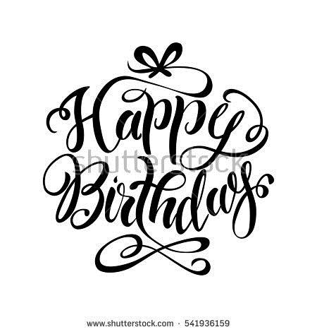 happy birthday drawing images ; stock-vector-happy-birthday-lettering-hand-drawn-vector-illustration-541936159