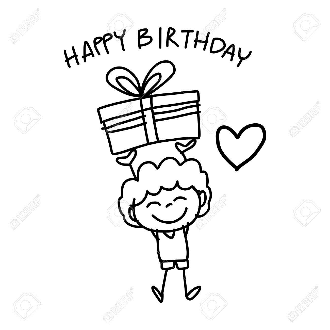 happy birthday drawing pictures ; 27911319-hand-drawing-cartoon-happy-birthday