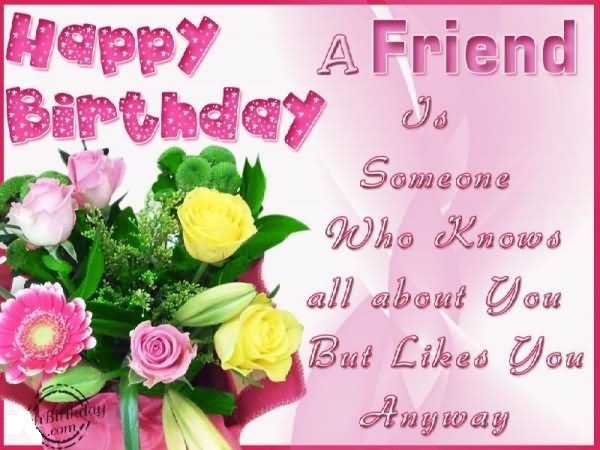happy birthday friend quotes card ; birthday-card-friend-rectangle-landscape-pink-green-yellow-flower-picture-beautiful-friends-quotes-happy-birthday-card-messages-for-friends