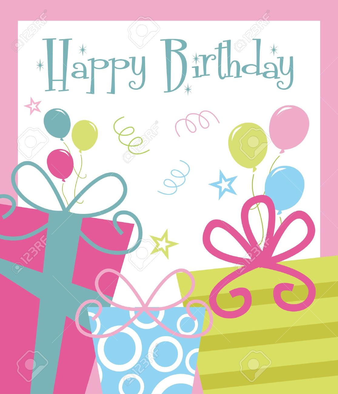 happy birthday greeting card design ; 20855088-happy-birthday-greeting-card-illustration
