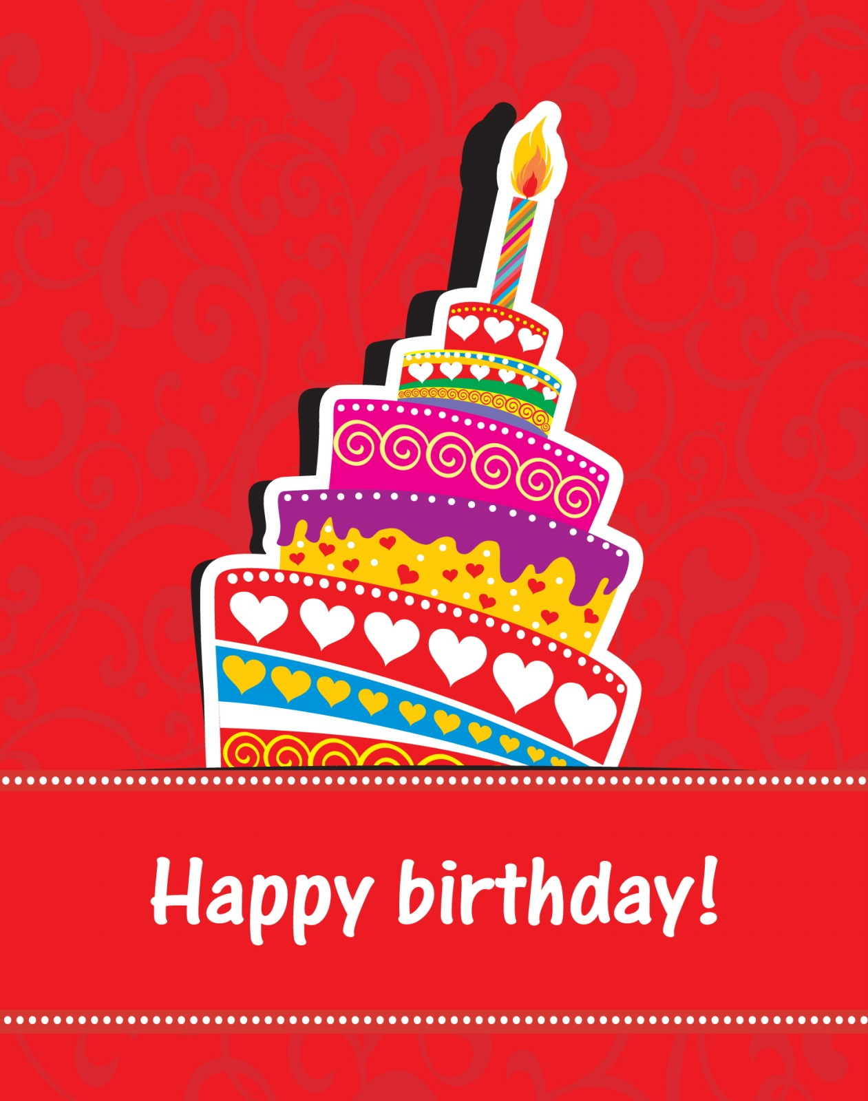 happy birthday greeting card design ; Happy-birthday-card
