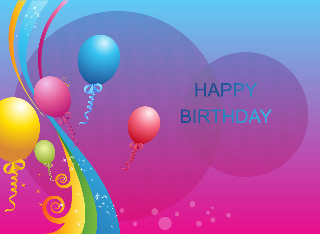 happy birthday greeting card design ; birthday-decorations