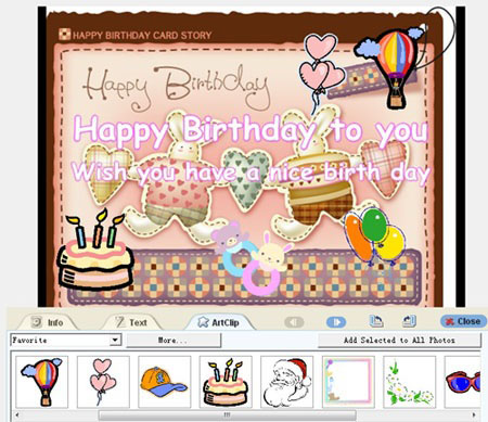 happy birthday greeting card design ; birty-day-e-card-design
