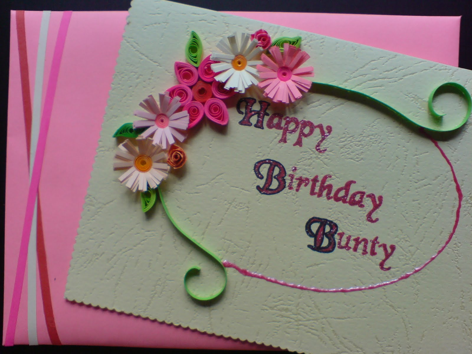 happy birthday greeting card design ; handmade-birthday-cards