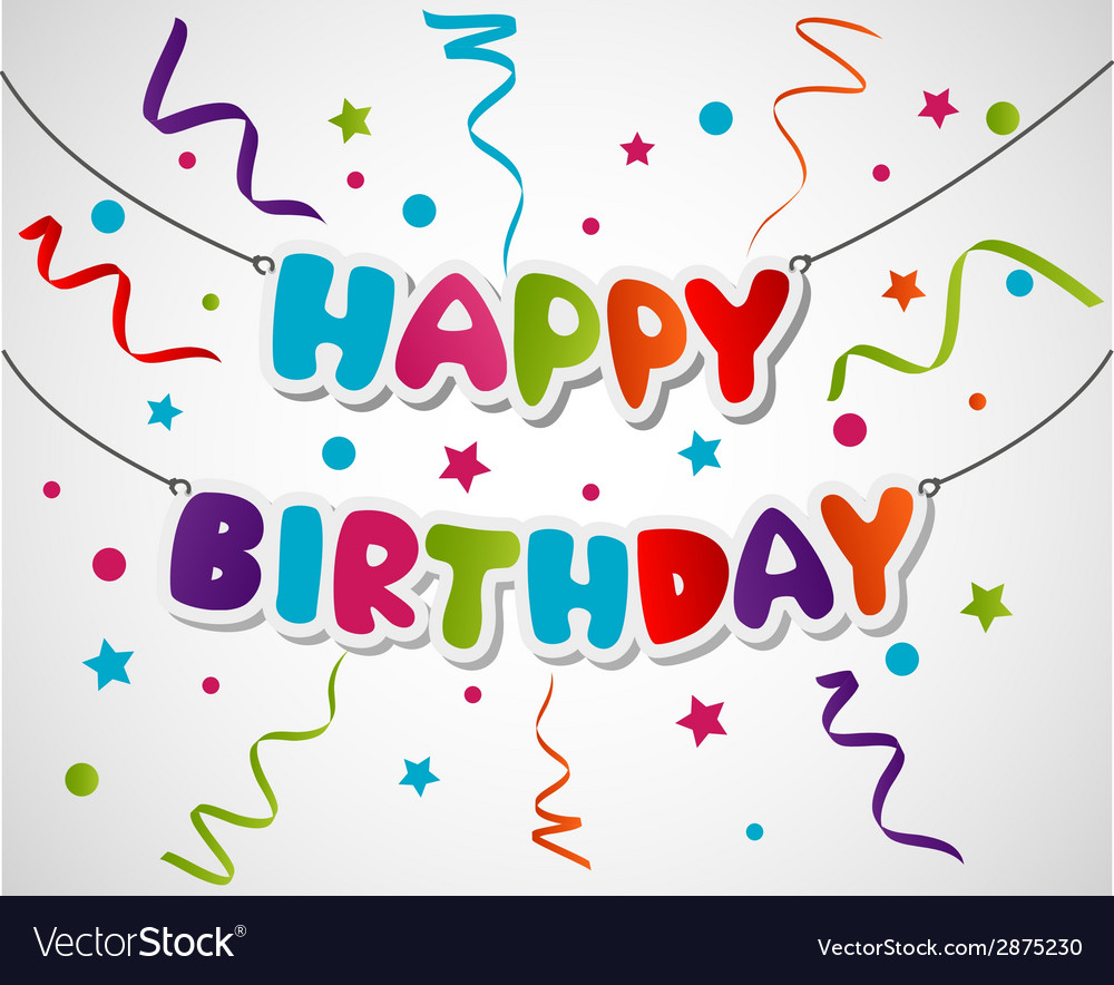 happy birthday greeting card design ; happy-birthday-greeting-card-background-vector-2875230