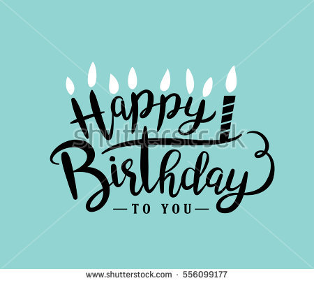 happy birthday greeting card design ; stock-vector-happy-birthday-greeting-card-with-lettering-design-556099177