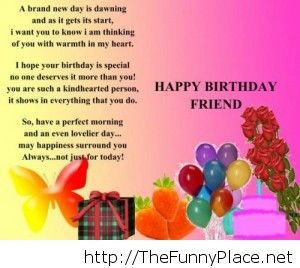 happy birthday images for friend with quote ; Happy-birthday-friend-quote
