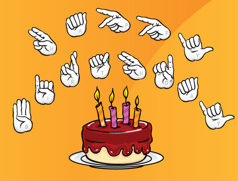 happy birthday in sign language image ; 2cec53f2f305446a480889b3905bd895