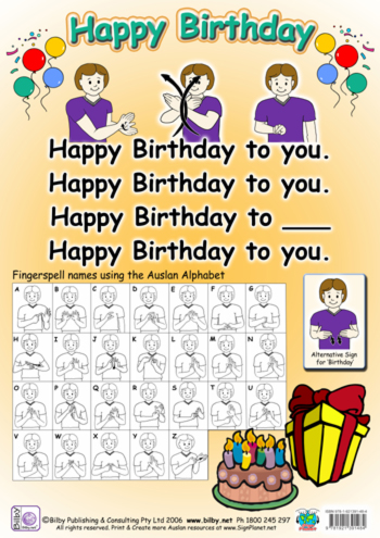 happy birthday in sign language image ; NRBirthday