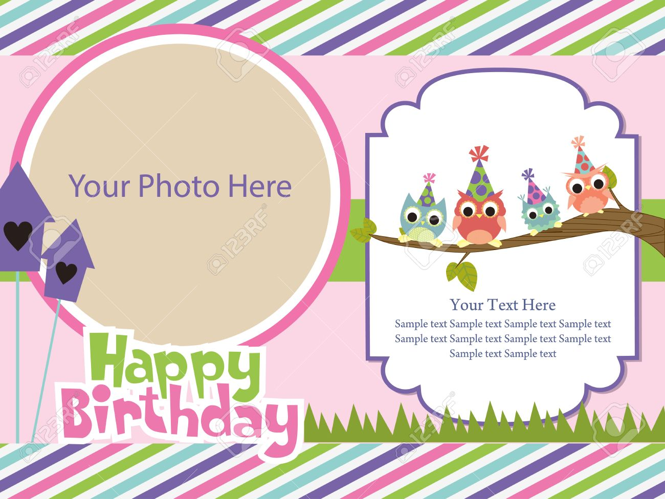 happy birthday invitation card design ; 26903663-happy-birthday-invitation-card-design-vector-illustration