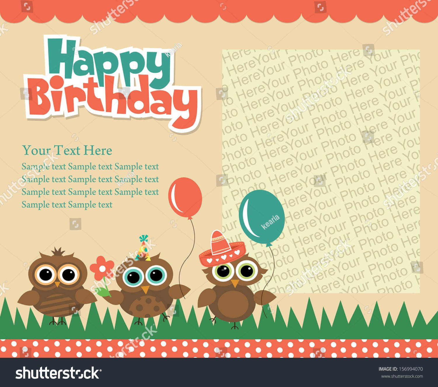 happy birthday invitation card design ; invitation-card-birthday-sample-best-of-happy-birthday-invitation-card-design-vector-stock-vector