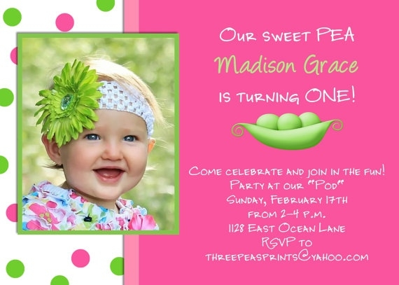 happy birthday invitation card design ; sweet-pea-girl-birthday-invitation-hot-pink-lime-green-photo-pertaining-to-birthday-invitation-card-design-for-girls