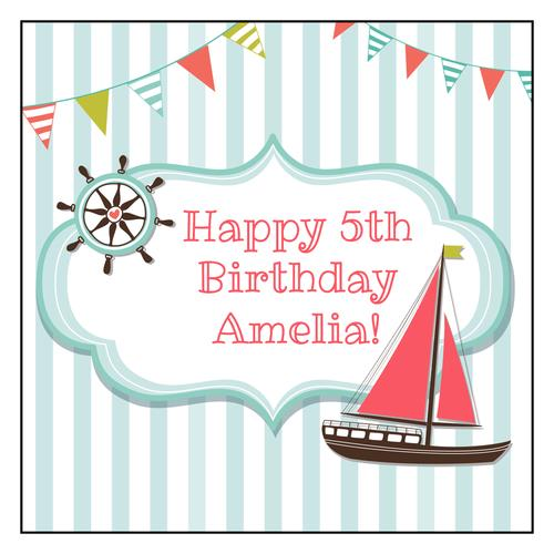 happy birthday label template ; Nautical-Birthday-Labels