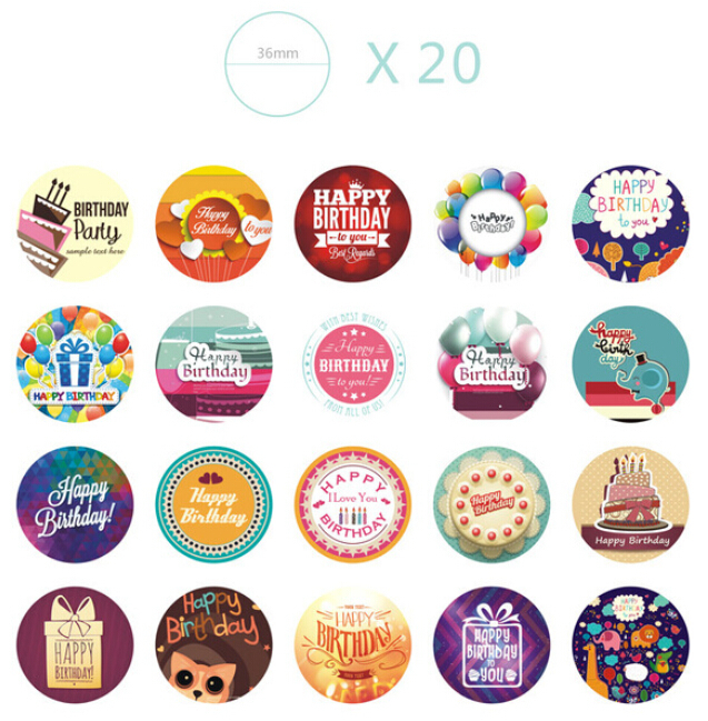 happy birthday labels ; Colorful-Happy-Birthday-Sticker-Set-For-Kids-38-Designs-Birthday-Labels-Birthday-Party-Favor-Gift-Seals