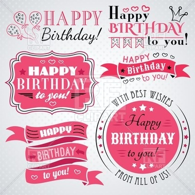 happy birthday labels ; happy-birthday-collection-of-retro-banners-labels-greeting-cards-and-frames-Download-Royalty-free-Vector-File-EPS-81068