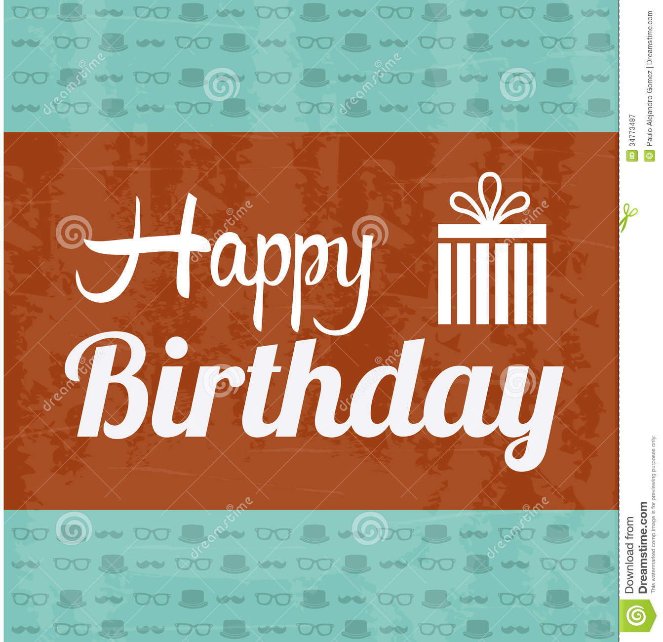 happy birthday labels free ; happy-birthday-label-over-pattern-background-illustration-34773487
