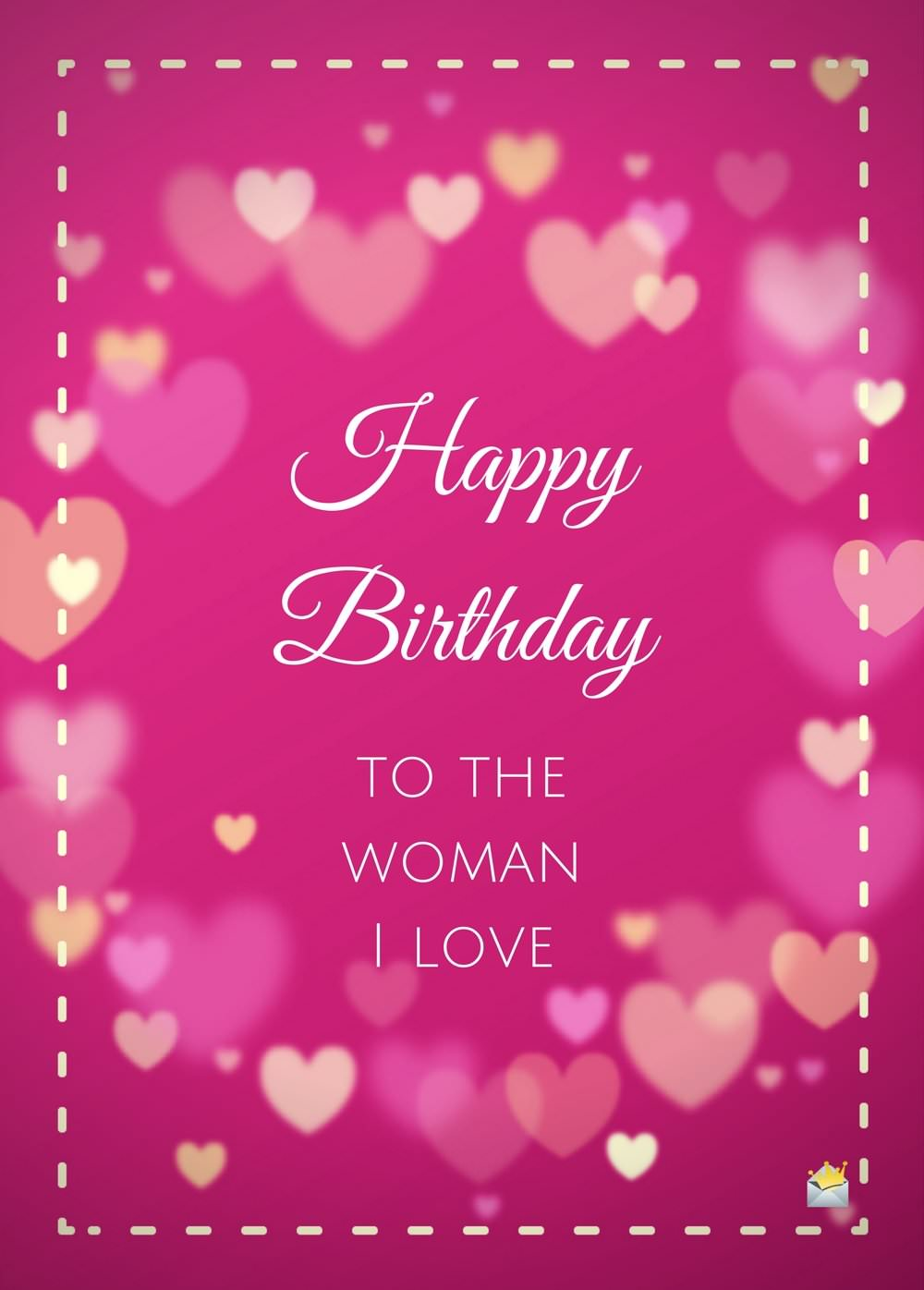 happy birthday messages and images ; Happy-Birthday-to-the-woman-I-love