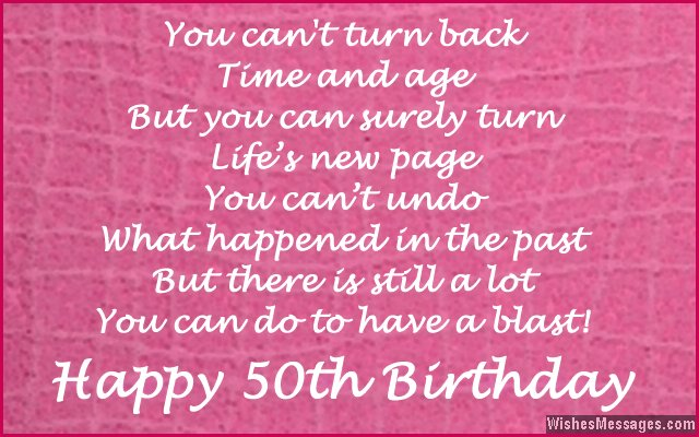 happy birthday messages images ; Cute-birthday-message-for-turning-50-years-old