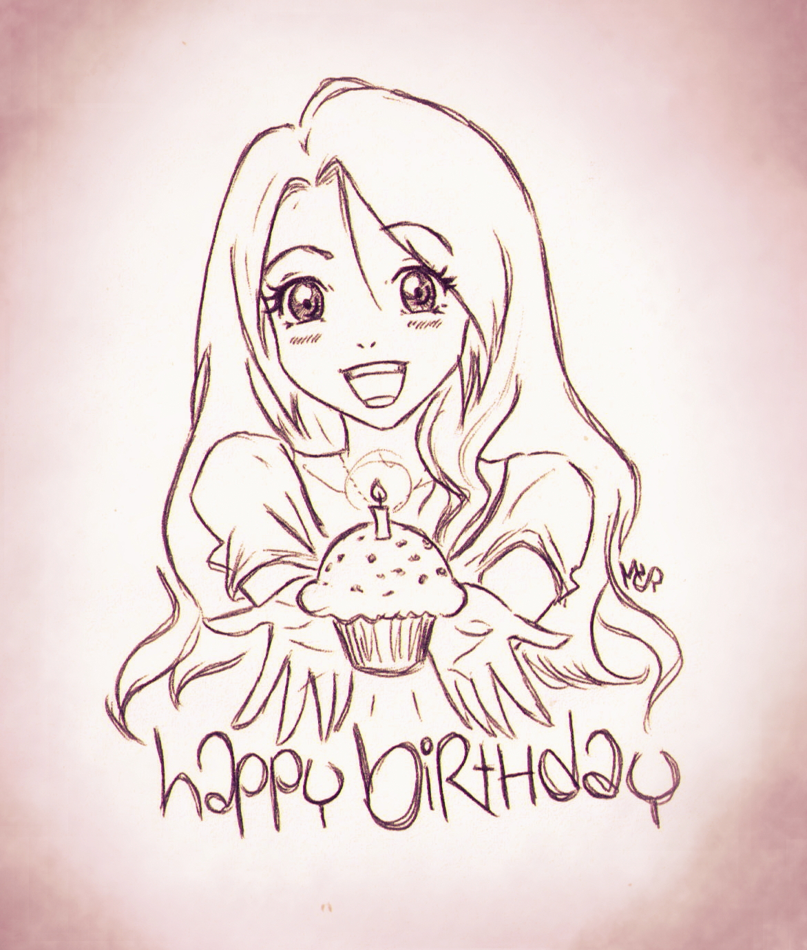 happy birthday pencil drawing ; pencil-sketch-alone-happy-birthday-images-birthday-anime-girl-doodle-by-ladyinsilver-on-deviantart