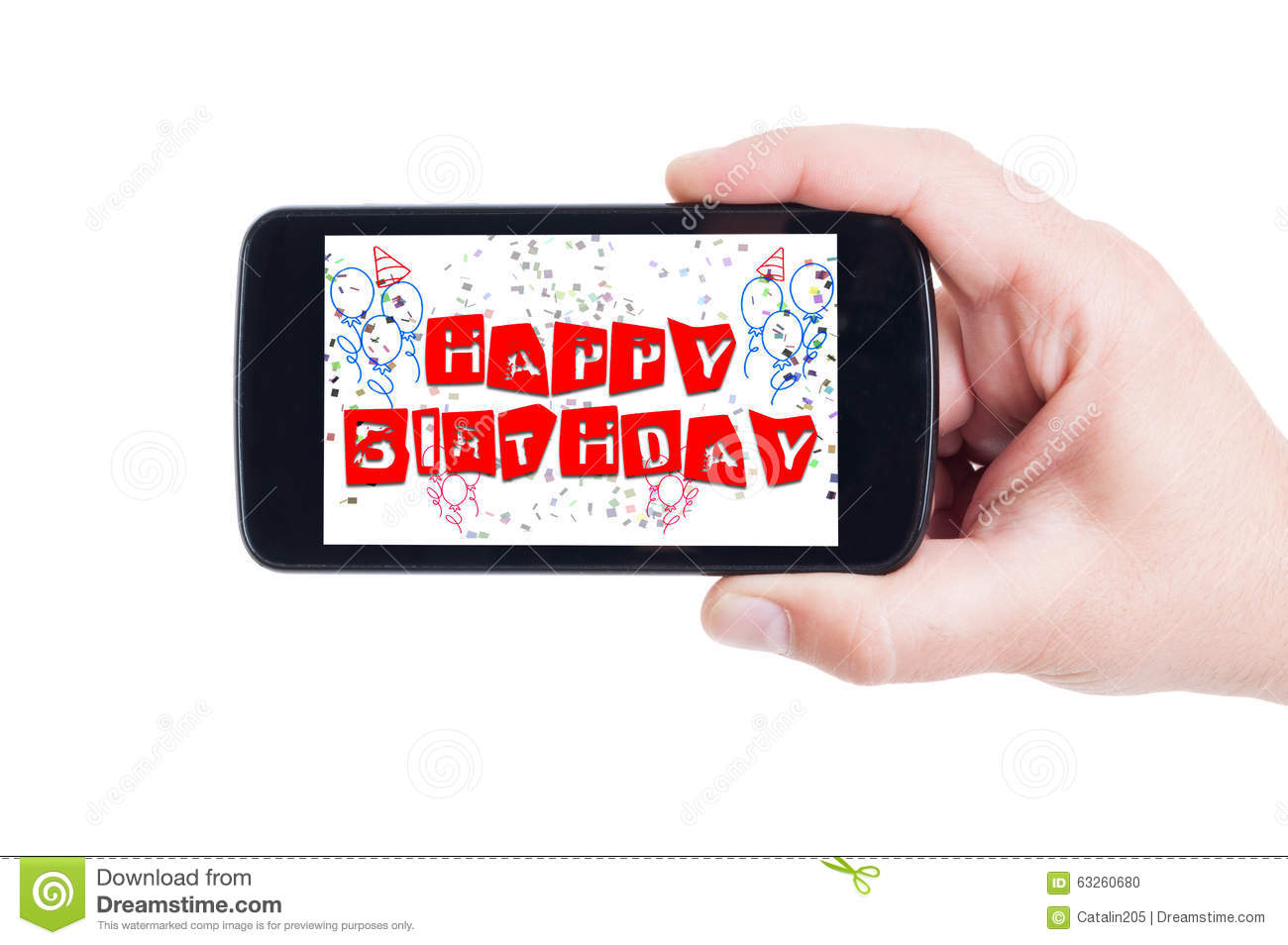 happy birthday picture messages mobile ; happy-birthday-concept-smartphone-display-phone-screen-63260680