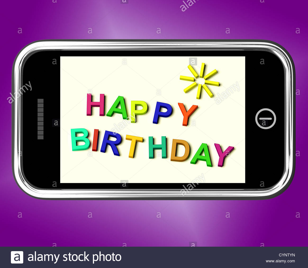 happy birthday picture messages mobile ; happy-birthday-message-on-mobile-phone-showing-internet-greeting-CYNTYN