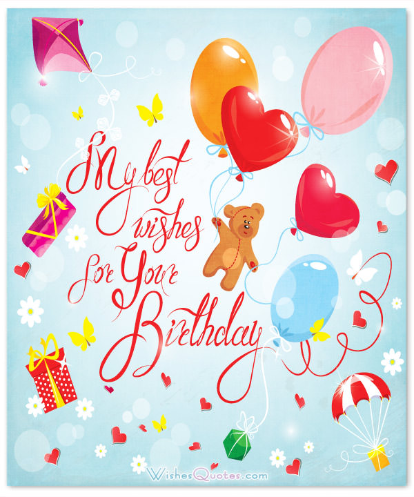 happy birthday pictures and wishes ; cute-birthday-message-for-girl