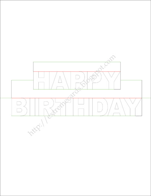 happy birthday pop up card template printable ; happybirthdaywords