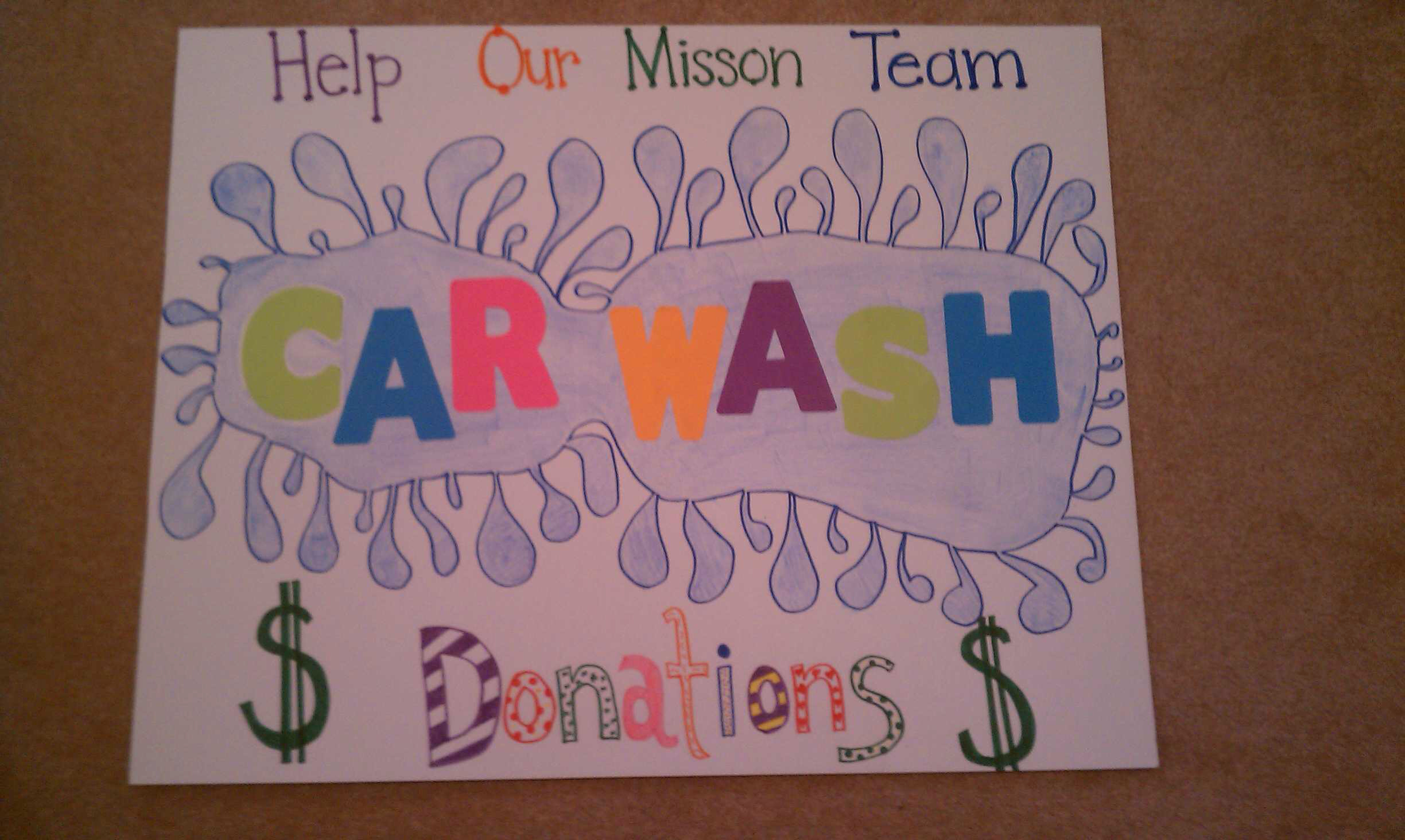 happy birthday poster ideas with pictures ; wash-fundraiser-poster-ideas-homemade-car-posters-pinterest_1567114