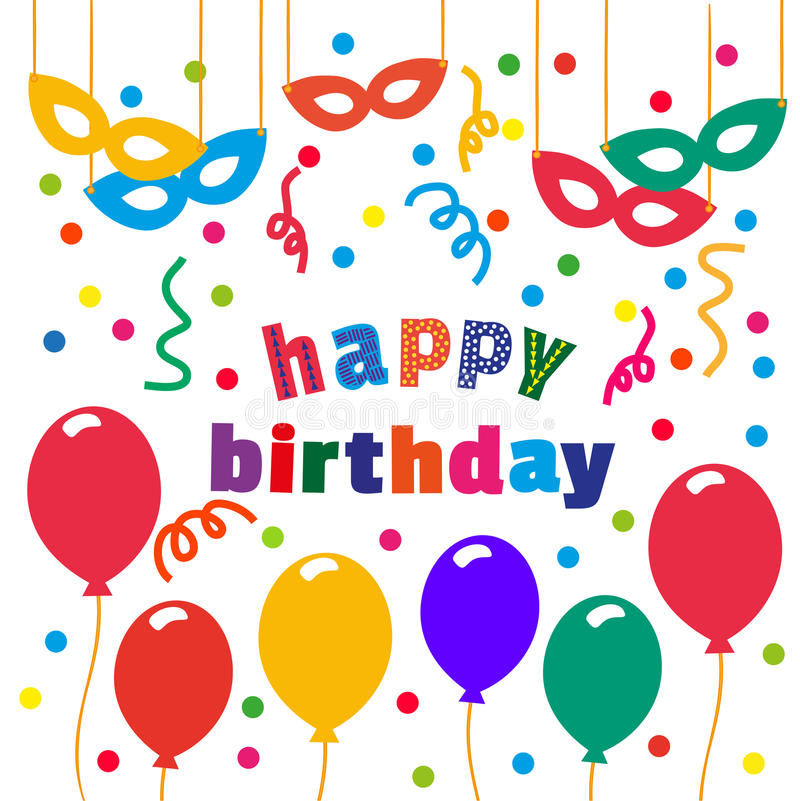 happy birthday poster images ; happy-birthday-banner-card-balloons-confetti-masks-idea-design-kids-party-background-greeting-card-poster-to-72316870