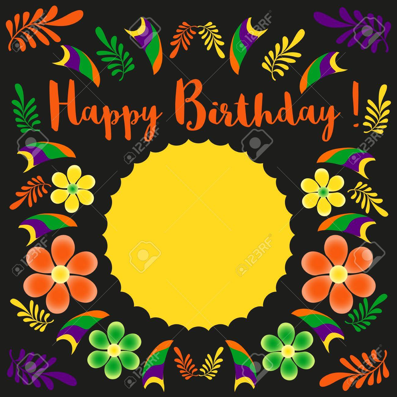 happy birthday poster template ; 57722172-happy-birthday-card-template-poster-on-party-celebration-blank-space-for-greeting-idea-for-design-of