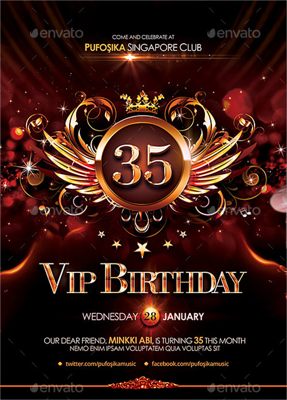 happy birthday poster template ; VIP-Birthday-Poster-Template