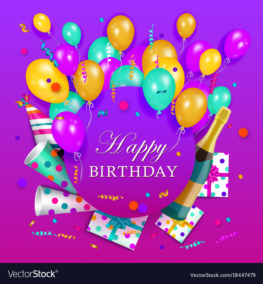 happy birthday poster template ; happy-birthday-banner-poster-template-vector-18447479